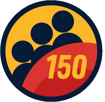 150 Members badge