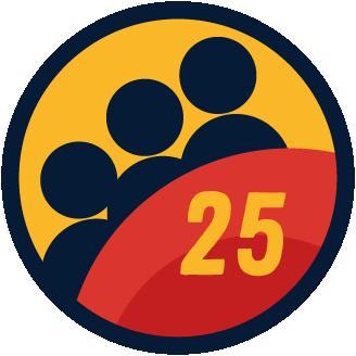 25 Members badge