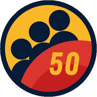 50 Members badge