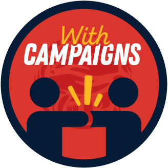 Collaborated with a Campaigns Group badge